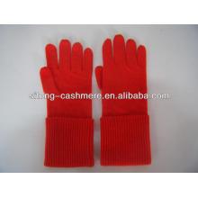 100% чистый оборкой длинные Кашемировые перчатки для мужчин женщин
