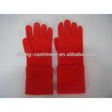 100% pure ruffle long Cashmere Gloves for men women
