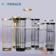 Cage de la caja del filtro de acero suave / inoxidable (130 * 3600)