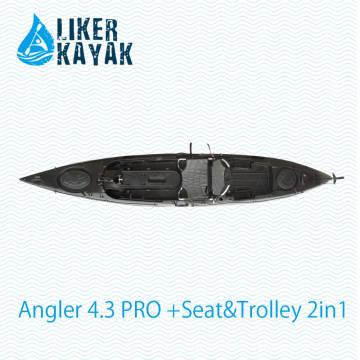 Fábrica estable del kajak de la pesca de la calidad LLDPE / HDPE OEM / ODM disponible