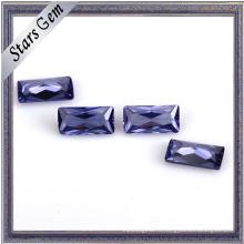 Высокое качество Voilet прямоугольник Принцесса Cut CZ для ювелирных изделий