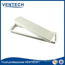 grelha grelha Linear de retorno de ar para ventilação