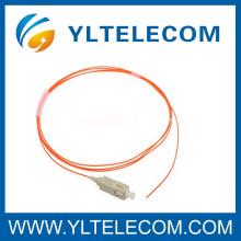 SC fibre Multimode cordon optique, SC Fiber Pigtails optiques Insertion faible perte