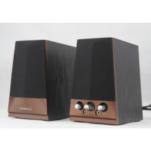 new 2.0 Classic Wooden PC speaker