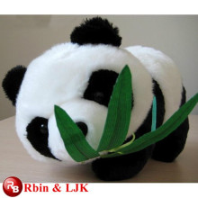 ICTI Audited Factory High Quality Custom Promotion plush panda with bamboo