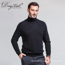 Diseño hecho a mano promocional del suéter de las lanas del alto cuello con la selección colorida