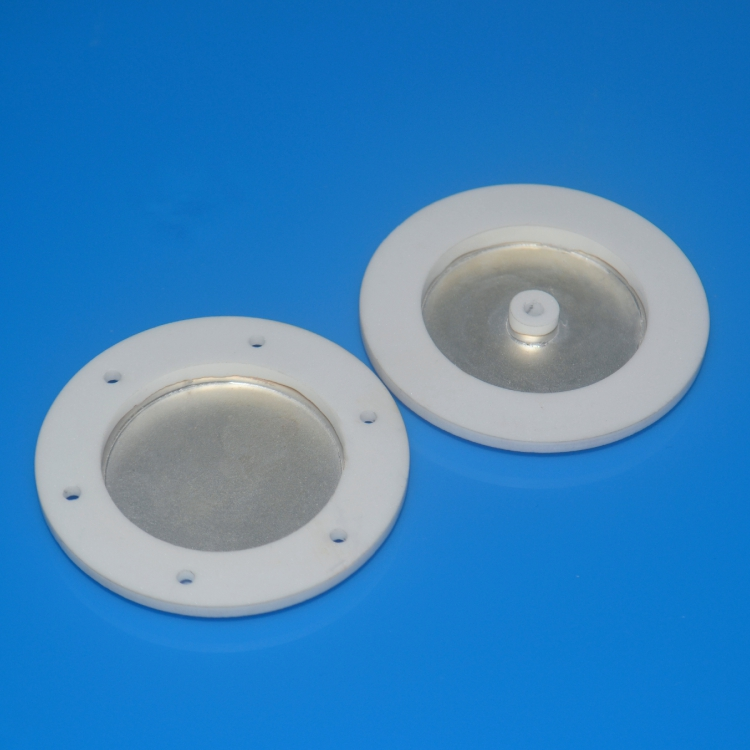 Machining alumina body covered with Ag plating