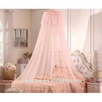 Круглая переносная сложенная противомоскитная сетка для двуспальной кровати