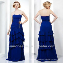 Sheath Sweetheart Blue Tiered Crystal Floor Length Mother Of The Bridal Dress