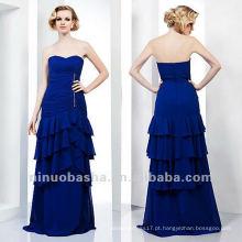 Sheath Sweetheart Blue Tiered Crystal Floor Length Mãe do vestido nupcial