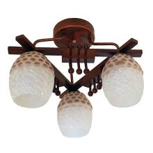 Деревянный завод подвесной светильник стеклянное потолочное освещение