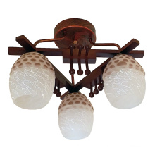 Деревянный завод Подвесной светильник Стеклянный потолочный светильник