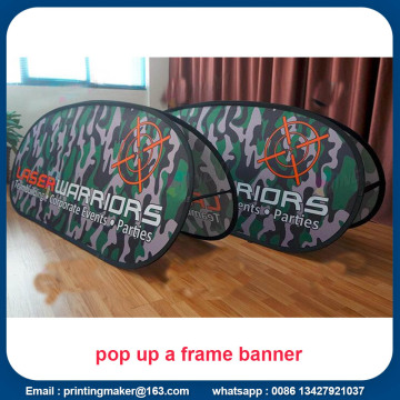 Custom Pop Up A-Frame Banners Advertise Board Sign