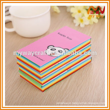 Bloco de notas panda adorável com impressão colorida, bloco de notas pegajoso do fornecimento escolar