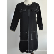 Ladies Open Cardigan Manteau à manches longues Manteau