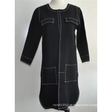 Ladies Open Cardigan casaco de malha de malha longa