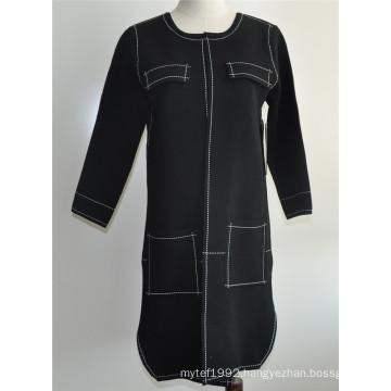 Ladies Open Cardigan Long Knitwear Sweater Coat