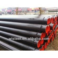 Poids de tube en acier doux de haute qualité / ERW ASTM A106 / A53