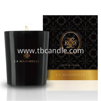Luxury Box Scented Soy Wax Candle black glass