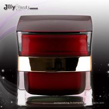 Jy219 le pot cosmétique PMMA avec n'importe quelle couleur 50g