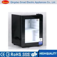 Uso doméstico pequeña capacidad de vidrio puerta mini congelador precio
