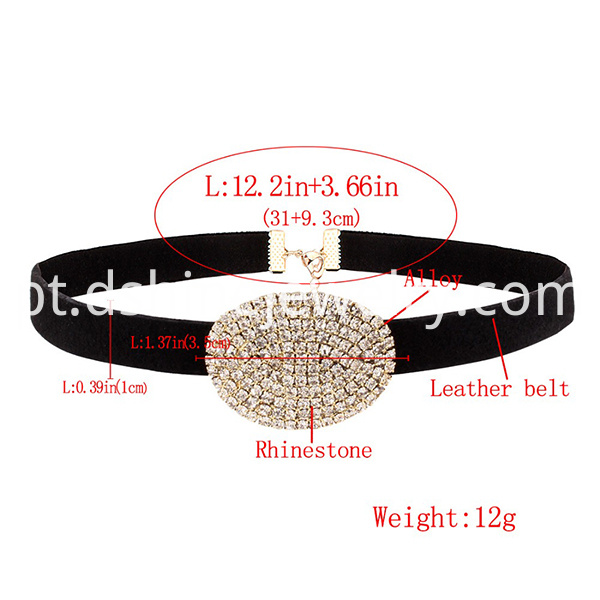 Crystal Stone Statement Luxury Choker
