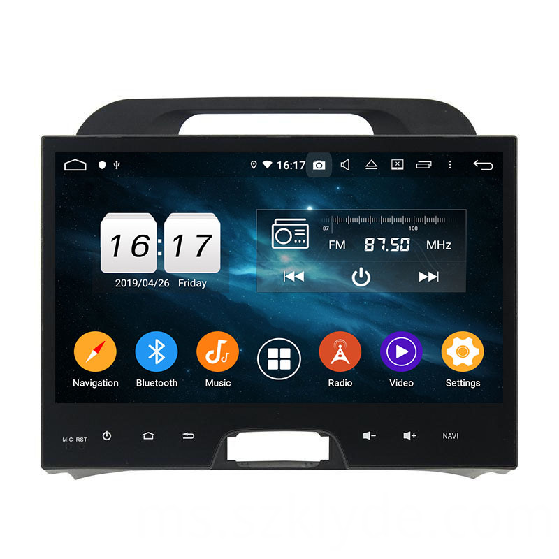 Sportage 2010 dvd player touch screen