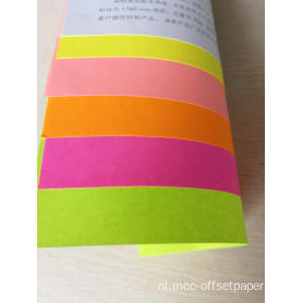 Fluorescentiebusiness paste speciaal papier