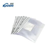 sac de document en pvc clair avec fermeture à glissière