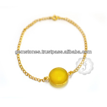Chalcedony Gemstone Jewelry with Silver in Wholesale Price