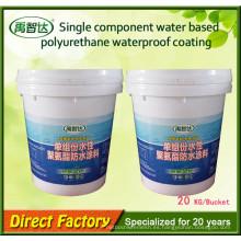 Revestimiento de caucho líquido de impermeabilización de poliuretano de un solo componente a base de agua