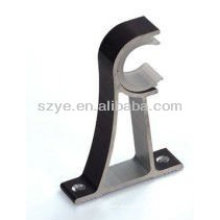 Single iron ceiling curtain rod bracket for home decoration