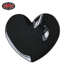 Pure Black Heart-shaped Plastic Charger Plate