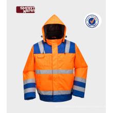 Oi-VI impermeável reflexivo segurança uniformes jaqueta trabalhador desgaste