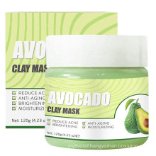 Natural Avocado Clay Face Mask Deep Skin Pore Cleansing Acne Blackhead Removal Masks