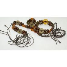 Мода Ручная работа из хлопчатобумажного вощеная веревка плетеные ремни-KL0054
