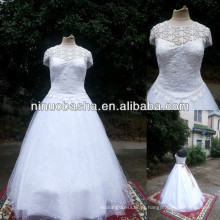 NW-481 Venice Lace Ball Gown Real Sample Wedding Dress 2014