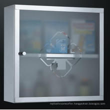 Stainless Steel Medicine Cabinet Finished in Polished Chrome
