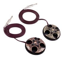 Pedal de aço inoxidável profissional do interruptor de pé da tatuagem, interruptor de pé da tatuagem