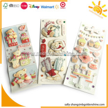 Paper 3D Stickers With Glitter