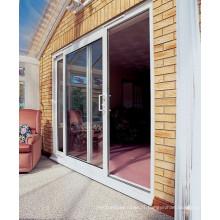 Porte coulissante en aluminium à isolation thermique pour la maison