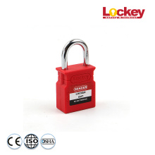 China for Thermoplastic Safety Padlock Lockey 25mm Steel Shackle Safety Padlock CP25S supply to Japan Factories