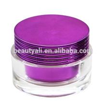 15g 30g 50g de plástico de luxo cosméticos embalagem de creme de vidro acrílico