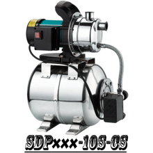 (SDP600-10S-CS) Household Self-Priming Jet Garden Booster Water Pump with Tank