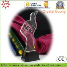 Médaille de trophée de cristal de haute qualité pour commémorer