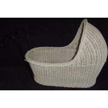 (BC-BA1003) Handmade Willow Sleeping Baby Basket
