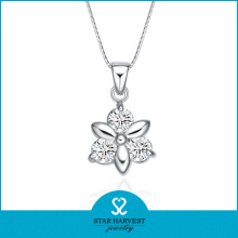 Fashion Flower Shaped Dongguan Metal Necklace