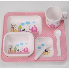 (BC-MK1006) Fashinable дизайн многоразового меламина 5PCS Kids Cute ужин набор