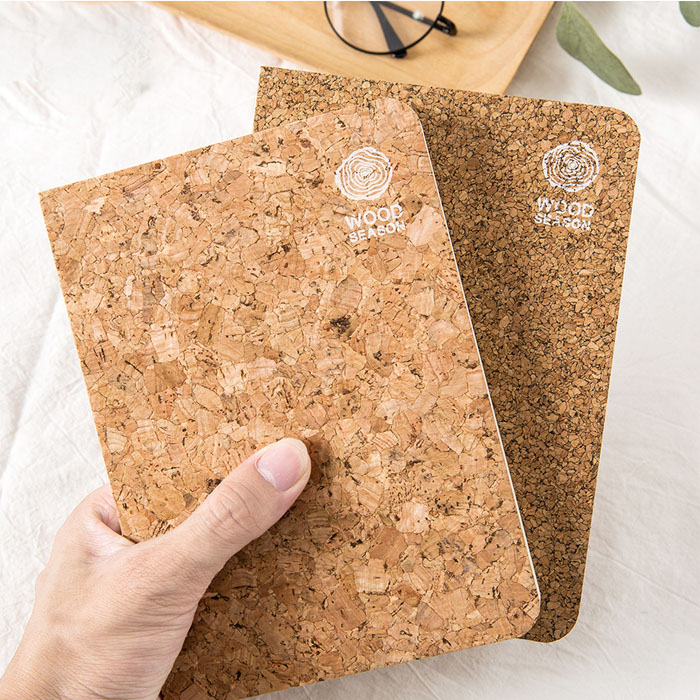 Fancy Novelty Customized Cork Note Book Notebook For Gift