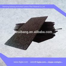almohadillas de filtro de carbón activado o filtro de tela Cabina de pulverización de carbón activado medios de filtro de carbón y material rollo de carbón medios de filtro un filtro de carbón activado diseño de pantalla filtro de carbón activado filtro d